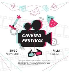 Cinema festival poster vector