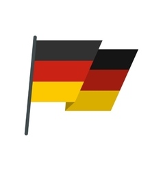 Flag of Germany icon flat style vector image vector image