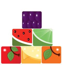 Fruit pyramid vector