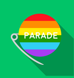 Gay parade icon flat single gay icon from the big vector