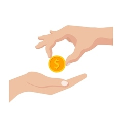Giving Money vector image vector image