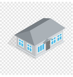 gray house isometric icon vector image