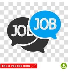Labor market eps icon vector