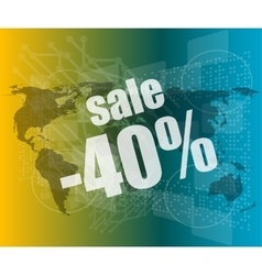 Management concept sale words on digital screen vector image vector image