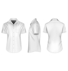 mens short sleeve shirts vector image