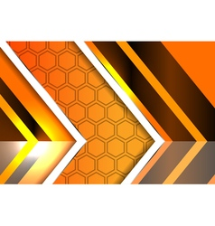 Modern style abstract orange background vector