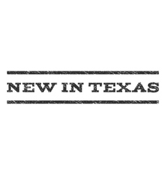 New in texas watermark stamp vector