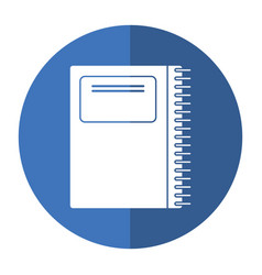 Notebook spiral school shadow vector
