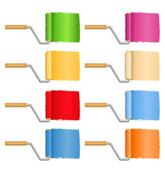 Paint rollers vector image vector image