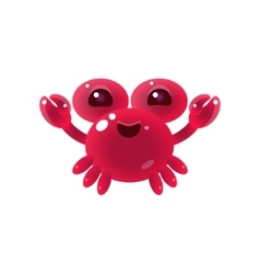 Pink balloon crab character vector