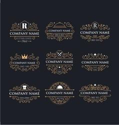 restaurant retro logo vector image vector image