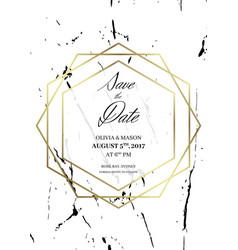 save the date design template for getting married vector image