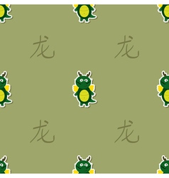 Seamless pattern with chinese zodiac dragon sign vector