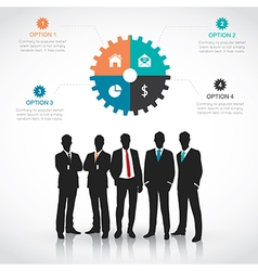 Silhouettes of businessman vector