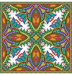 Silk neck scarf or kerchief square pattern design vector