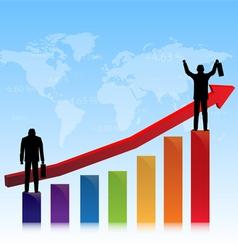 Successful of stock market vector