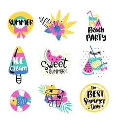 Summer elements collection vector image vector image