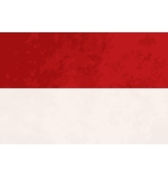 True proportions Indonesia flag with texture vector image vector image