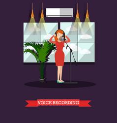 voice recording in radio flat vector image vector image