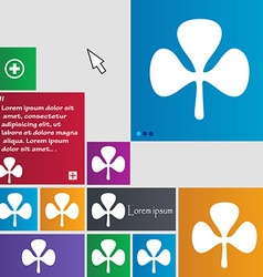 Clover icon sign buttons modern interface website vector