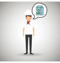 chef cook food restaurant vector image