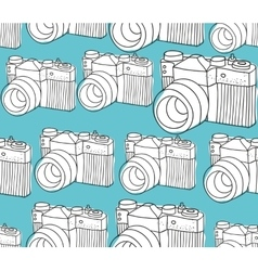 Seamless pattern with black and white photo vector image