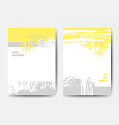 Set of postcards vector
