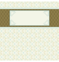 Label on beige checked background vector