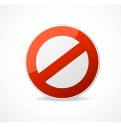 No sign red isolated on white vector