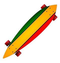 Three color longboard vector