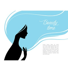 Beautiful and young woman vector image