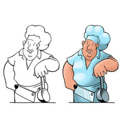 comical cook vector image