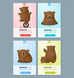 Animal banner with bears for web design 1 vector