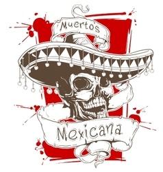 Dead mexican vector image