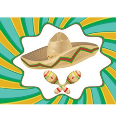 Sombrero and maracas4 vector