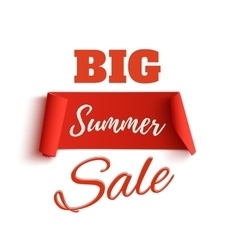 Big summer sale poster template vector