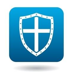 Shield icon simple style vector