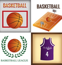 a set of backgrounds and labels with different bas vector image