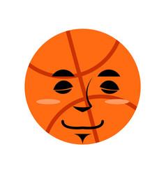 basketball sleep emoji ball sleeping emotion vector image vector image