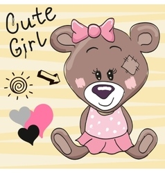 Bear girl vector image