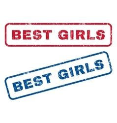 Best Girls Rubber Stamps vector image vector image