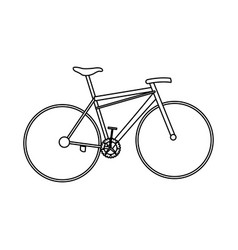 Bicycle sport transport equipment outline vector