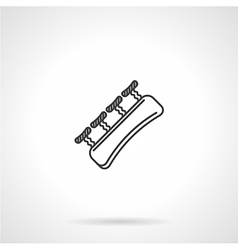 Black line icon for finger gripper vector image
