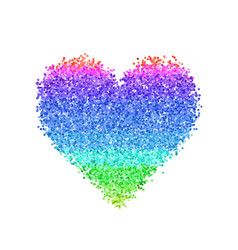 colorful glitter heart vector image vector image