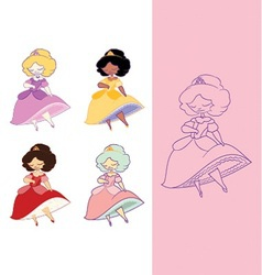 Dainty princess vector