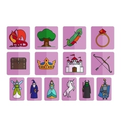 Fairy tale elements set vector