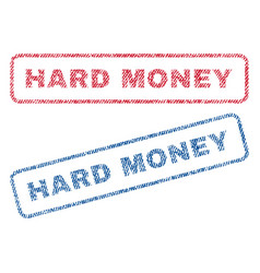 Hard money textile stamps vector