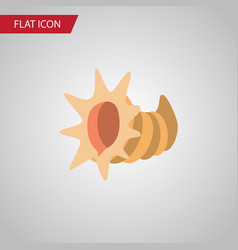 Isolated cockleshell flat icon seashell vector