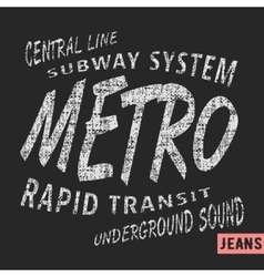 Metro vintage stamp vector image vector image