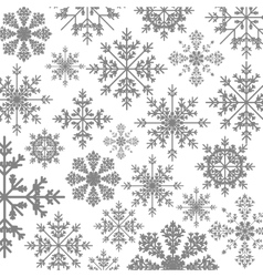 Pattern monochrome with ice crystals vector